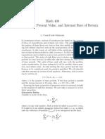Cash Flow Streams, Present Value, And Internal Rate of Return by James v. Burke