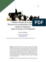 Últimas noticias de la guerra. Procesos de ficcionalización en las narraciones históricas sobre la guerra civil. Jaume Peris Blanes