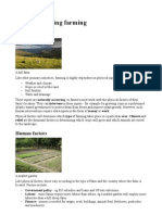 Factors Affecting Farming
