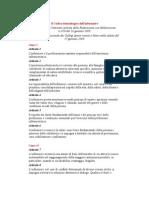 Il Codice Deontologico Dell