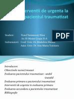 Interventii de Urgenta La Pacientul Traumatizat