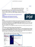 Convert JPG to PDF (or Other Image Formats to PDF)