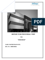 47466892 Report of Industrial Visit of Infosys