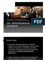 Entrepreneurial Intensive   Rodney Sampson
