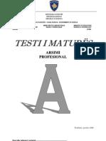 Shkollat Profesionale Testi A