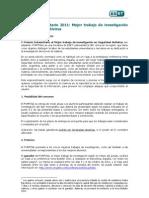 Reglamento Premio ESET 2011