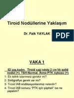 Tiroid Nodüllerine Yaklaşım