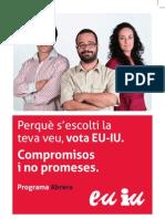 Programa EU-IU Eleccions Municipals 2011