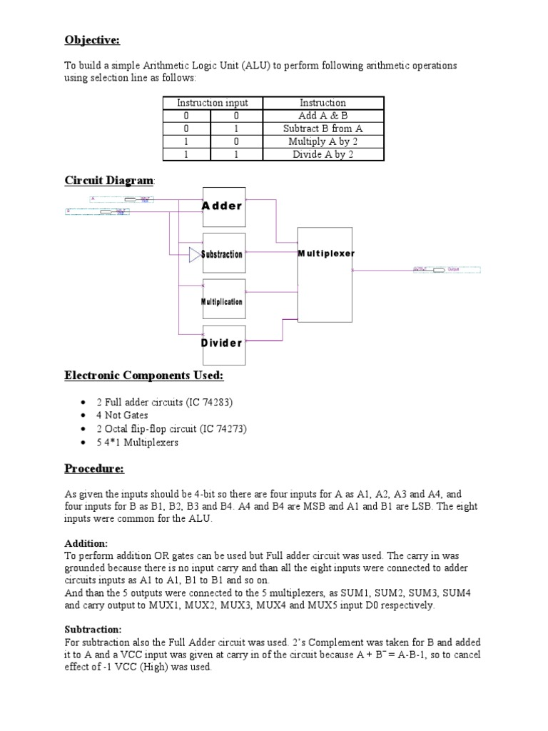 Project 2 Electronic Circuits Design Full Adder Circuit