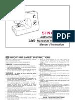 Singer 2263 Manual