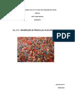 AL 3.1 - Identificação de Plásticos