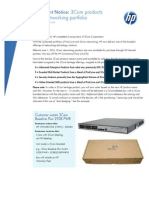 3Com Products in HP Networking Portfolio