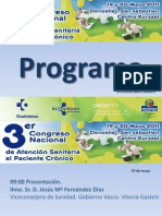 III Congreso nacional de atención sanitaria al paciente crónico