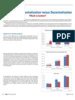 Manufacturing Centralization Versus Decentralization