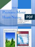 Introduction to Psychiatric-Mental Health Nursing