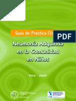 GUIA DE PRACTICA CLINICA NEUMONIA ADQUIRIDA EN LA COMUNIDAD EN NIÑOS OPS MINSA  2009