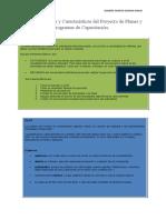 Conceptualización y Características del Proyecto de Planes y Programas de Capacitación