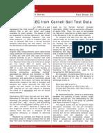 Estimating CEC From Cornell Soil Test Data