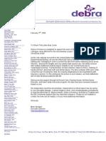 Debra NY Support Letter
