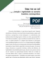 Uma Voz Ao Sol tao e Legitimidade Na Narrativa Brasileira Contempornea