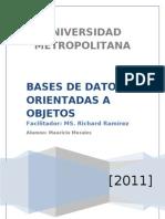 Base de Datos Orientada a Objetos MMorales