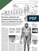 Ardi,el antepasado más antiguo del hombre