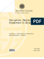 Corruption, Democracy, And Investment in Ukraine