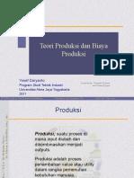 Pertemuan 6 Teori Produksi Dan Biaya Produksi