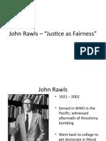 John Rawls – Justice as Fairness