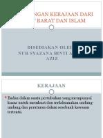Kepentingan Kerajaan Dari Sudut Islam & Barat
