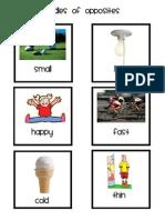 Opposites File Folder