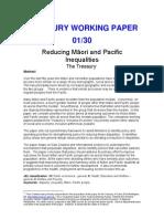 Reducing Inequlaities - Maori PI - Treasury