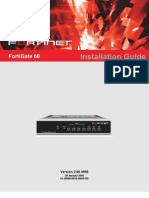 FortiGate-60 Installation Guide