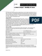 Gospel of John - Identity of Jesus
