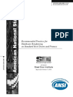 Recommended Practice for Hardware Reinforcing on Standard Steel Doors and Frames