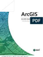 Arcgis10 Functionality Matrix