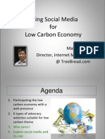 Using Social Media for Low Carbon Economy