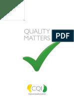 CQI Quality Matters Handbook