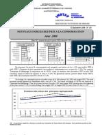 Indices des prix à la consommation - Août 2008 (INSTAT - 2008)