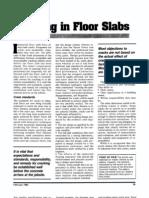 Floor Slab Crack