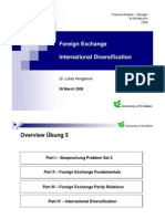 Uebung 3 - Foreign Exchange Und International Diversification
