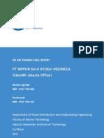 On Job Training Final Report - PT Nippon Kaiji Kyokai Indonesia (ClassNK-Jakarta Office)