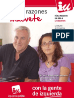 CARTEL ELECTORAL IZQUIERDA UNIDA FÉREZ 2011-2015