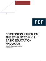 Proposed K-12 Basic Education System in The Philippines