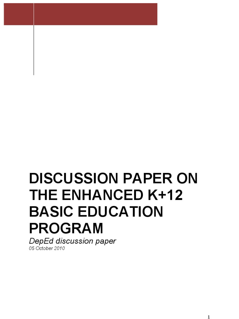 analysis of k12 curriculum in the philippines