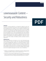 Downloadable Content - Security and Robustness