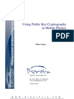 Using Public Key Cryptography in Mobile Phones
