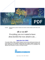 dB or no dB - Everything you ever wanted to know