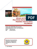 Desain Instruksional Pelatihan Bahasa Inggris Pemandu Wisata Kota Palembang