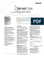 SQL Server 2008 Reporting Services Datasheet